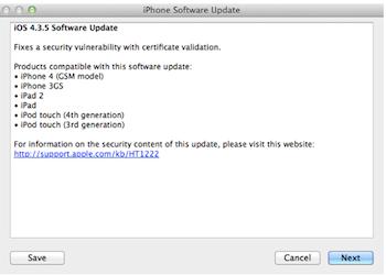Capture d'écran 2011 07 25 à 19.34.54 iOS 4.3.5 disponible au téléchargement