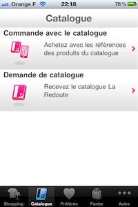 Catalogue [Test] La Redoute pour iPhone (gratuit) : faites vous plaisir ce sont les soldes tous les jours !