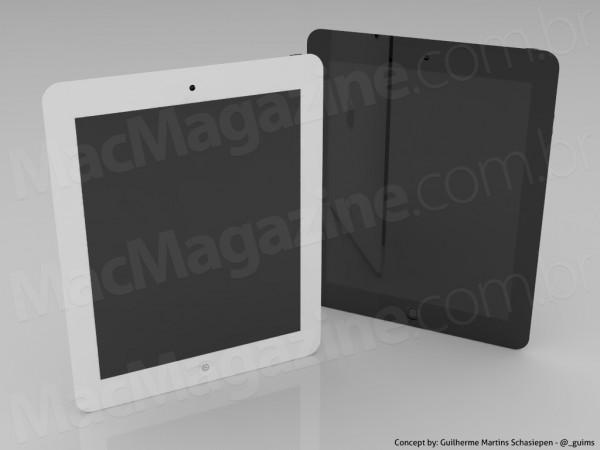 Concept iPad3 2 Un nouveau concept pour un iPad 3 encore plus fin avec une caméra 5Mpx et un Flash LED