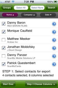 Contacts2Excel [EDIT] Les bons plans de lApp Store ce lundi 4 juillet 2011