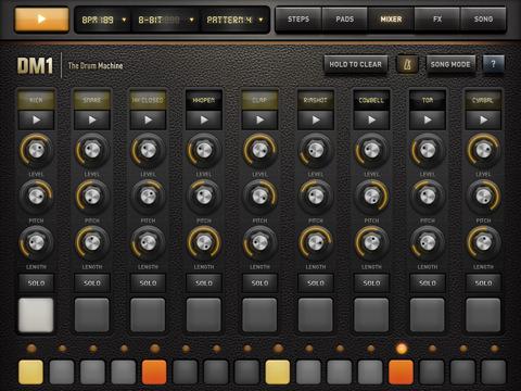 DM1 Drum Fingerlab dévoile DM1 the Drum machine pour liPad (Promo de lancement à 1,59€)