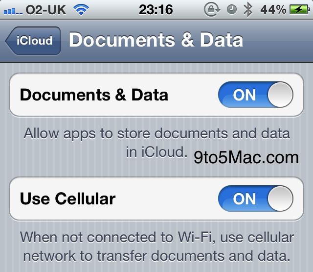 Document in cloud iOS5 Les premières nouveautés de liOS5 Beta 4