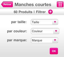 Filtrage achat2 [Test] La Redoute pour iPhone (gratuit) : faites vous plaisir ce sont les soldes tous les jours !