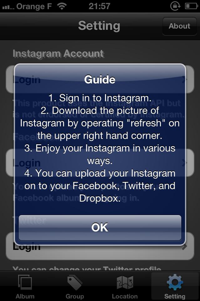 IMG 0080 [Test] My InstaAlbum, gérez vos photos Instagram dans une application indépendante (0,79€)