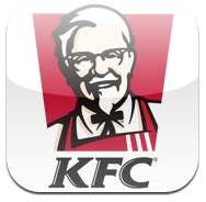 KFC logo Lapplication officielle des restaurants KFC sur lApple Store (gratuit)