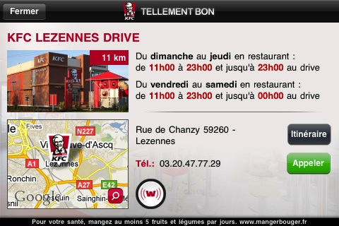 KFC1 Lapplication officielle des restaurants KFC sur lApple Store (gratuit)