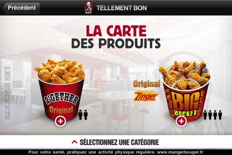 KFC2 Lapplication officielle des restaurants KFC sur lApple Store (gratuit)