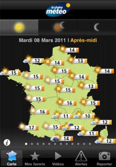 La chaine météo Les bons plans de lApp Store ce vendredi 8 juillet 2011