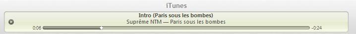 NTM iTunes : 90 secondes dextrait pour les chansons