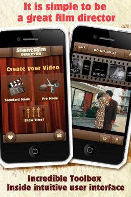 Slient film directoir Les bons plans de lApp Store ce dimanche 28 août 2011