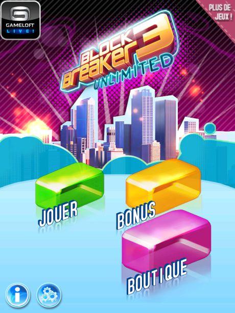 Test Block Breaker 1 [Test] Block Breaker 3 de Gameloft   Le jeu du casse brique a encore de beaux jours devant lui (0,79€)