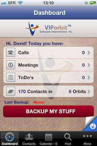 Test VIPObit0011 [Test] de VIPOrbit   un gestionnaire de contacts et de calendrier très prometteur (7,99€)