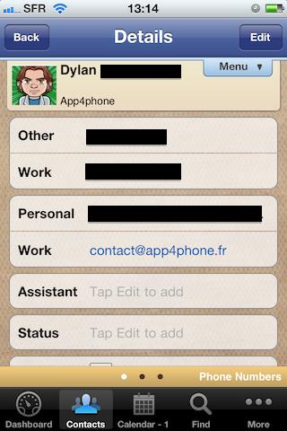 Test VIPObit009 [Test] de VIPOrbit   un gestionnaire de contacts et de calendrier très prometteur (7,99€)