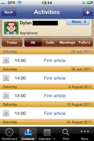 Test VIPObit012 [Test] de VIPOrbit   un gestionnaire de contacts et de calendrier très prometteur (7,99€)