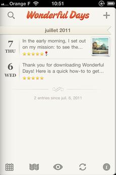 Test WonderfulDays 0001 [Test] Un journal de bord en beauté avec Wonderful Days   Diary with Style (2,39€)
