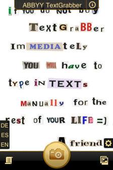 TextGrabber1 [Màj] Les bons plans de lApp Store ce lundi 18 juillet 2011
