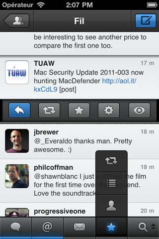 Tweetbot 1 Le Client Tweetbot mis à jour en version 1.4 avec le support partiel du Push