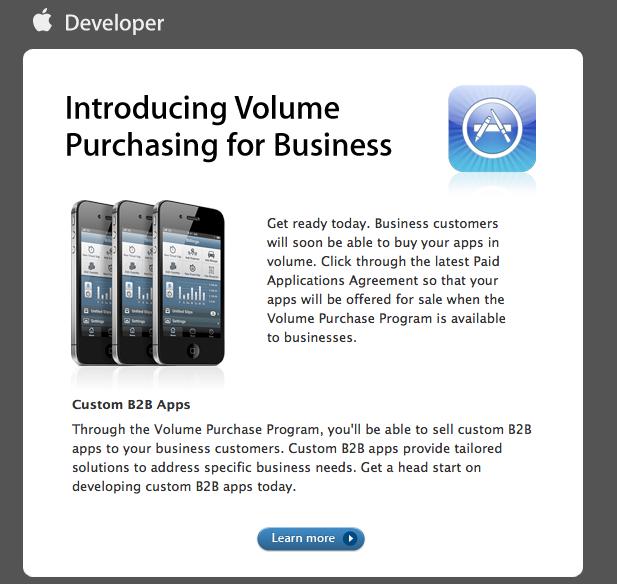 Volume apps purchase App Store : Achats dapplications en volume pour les professionnels