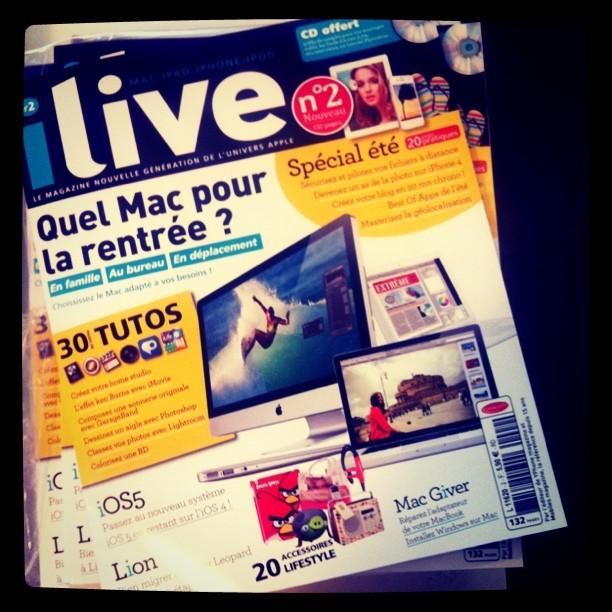 iLive N2 Le magazine iLive n°2 est arrivé en kiosque, avec une interview dApp4Phone !