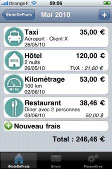 iNoteDeFrais [EDIT] Les bons plans de lApp Store ce lundi 4 juillet 2011