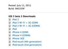 iOS5beta 3 iOS 5 bêta 3 est là !
