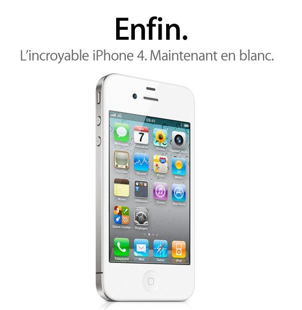 iPhone 4 Blanc Résultats Financiers T3 Apple : 20 millions diPhone vendus, 28 milliards de dollars de chiffre daffaire