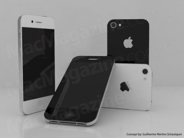 iphone5 concept 2 Un nouveau concept dun iPhone 5 plus fin, avec un écran 4 et Facetime HD