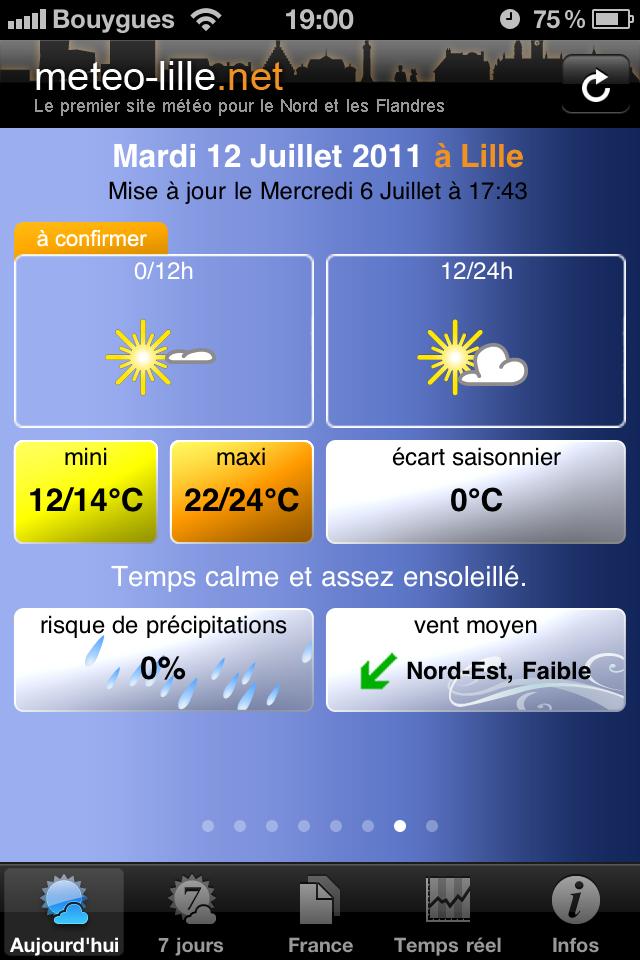 test cardi temps 7jours [Test] Appli Météo Cardiweb   Les applications références de la météo sur iPhone (gratuit)