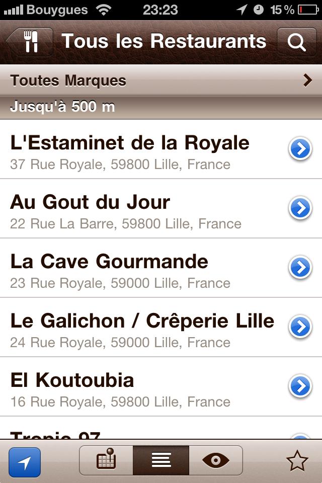 test ou trouver tous les restaurants [Test] de Où trouver   rechercher des enseignes diverses autour de chez vous (2,39€)
