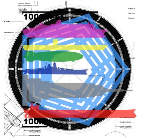 études statistiques Des images et des chiffres sur le futur campus gigantesque dApple : The MotherShip