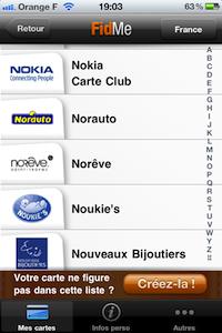 Ajouter1 FidMe (gratuit) : toutes vos cartes de fidélité dans votre iPhone