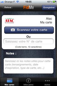 Ajouter21 FidMe (gratuit) : toutes vos cartes de fidélité dans votre iPhone