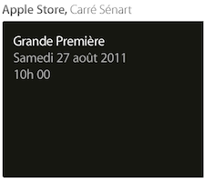 Capture d'écran 2011 08 23 à 16.53.33 Ouverture de lApple Store Carré Sénart à Lieusaint (77) le 27 août 2011