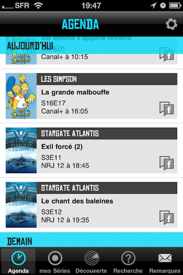 CoTVST002 Test de de TV Show Time   Toute lactualité  de vos séries préférées sur iPhone (1,59€)