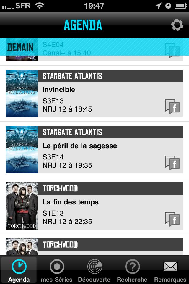 CoTVST003 Test de de TV Show Time   Toute lactualité  de vos séries préférées sur iPhone (1,59€)