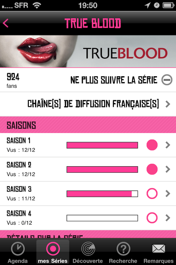 CoTVST010 Test de de TV Show Time   Toute lactualité  de vos séries préférées sur iPhone (1,59€)