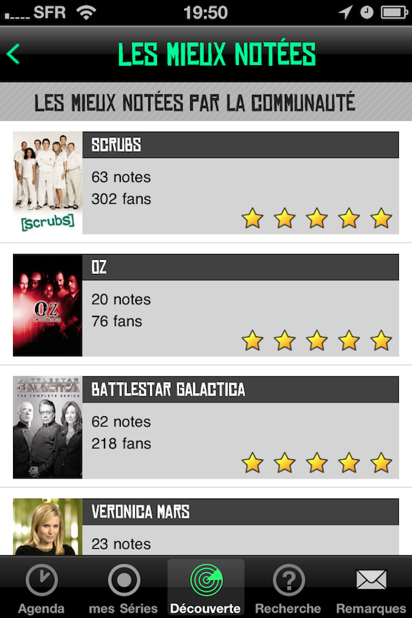 CoTVST015 Test de de TV Show Time   Toute lactualité  de vos séries préférées sur iPhone (1,59€)