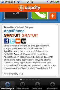 Description2 AppCity [gratuit] : une application découverte tous les jours !