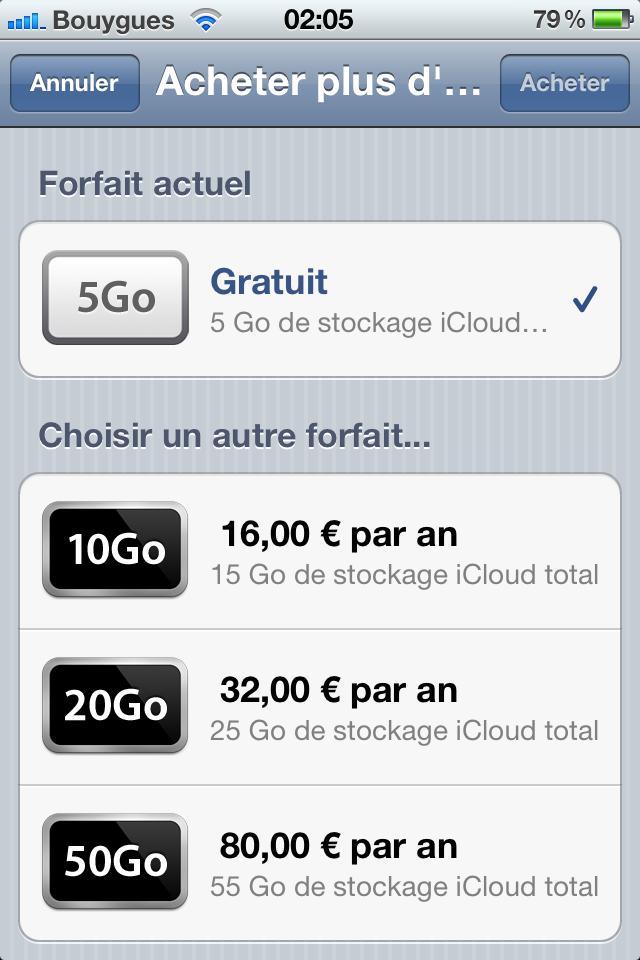 IMG 0092 iCloud.com disponible en version bêta   Les tarifs du Stockage dévoilés