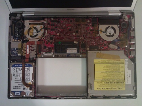 Intérieur MacBook 3G