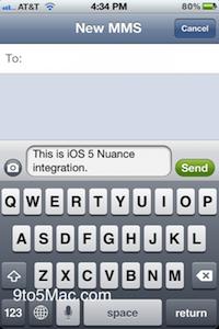 Reconaissance vocale iOS 5 : la reconnaissance vocale bien présente !