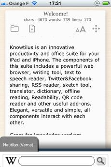 Test Knowtilus 03 [Test] Knowtilus Pro, un navigateur web avec des fonctionnalités avancées (7,99€)