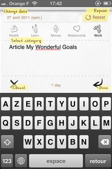 Test MyWonderfulGoals 05 [Test] My Wonderful Goals, réalisez vos objectifs grâce à un suivi régulier (0,79€)