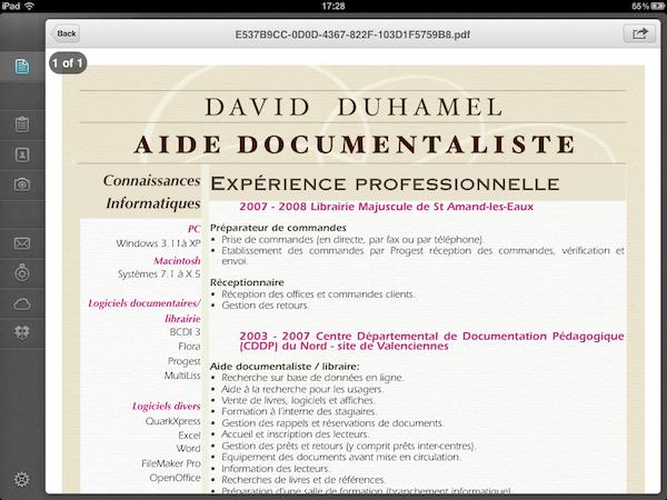 Test PDFConverter002 Test de PDF Converter [iPad]   Sauvegarder, regrouper, et partager tous vos documents dans le format PDF