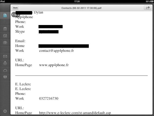 Test PDFConverter007 Test de PDF Converter [iPad]   Sauvegarder, regrouper, et partager tous vos documents dans le format PDF