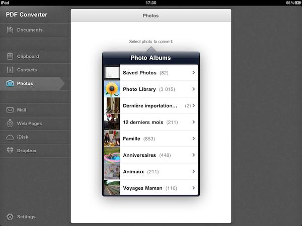 Test PDFConverter009 Test de PDF Converter [iPad]   Sauvegarder, regrouper, et partager tous vos documents dans le format PDF