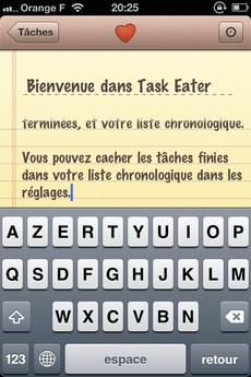 Test TaskEater 0004 [Test] Task Eater, un gestionnaire de tâches épuré et efficace (0,79€)
