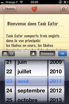 Test TaskEater 0008 [Test] Task Eater, un gestionnaire de tâches épuré et efficace (0,79€)
