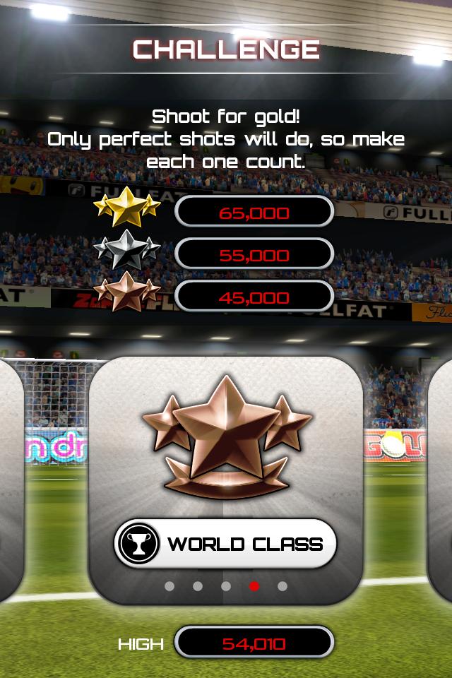 Test flicksoccer challenge [Test] de Flicksoccer   Un mini jeu de football pour se divertir sur son iPhone (0,79€)