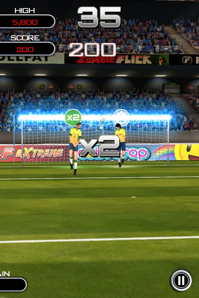 Test flicksoccer crossbar [Test] de Flicksoccer   Un mini jeu de football pour se divertir sur son iPhone (0,79€)